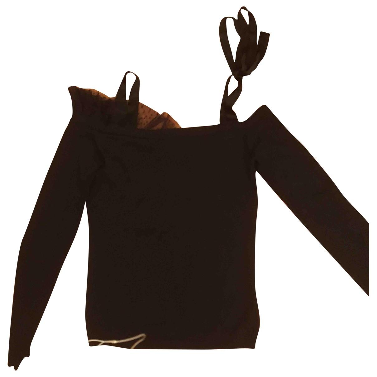 Valentino Garavani \N Black Cotton  top for Women 42 IT