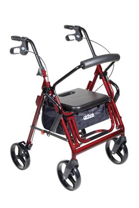 795bu Duet Dual Function Transport Wheelchair Walker Rollator