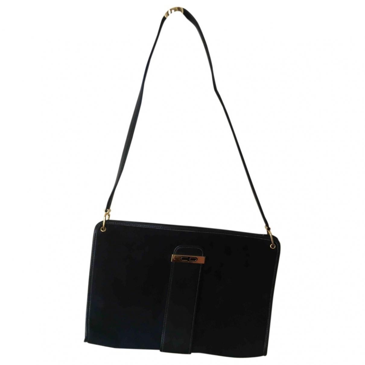 Dior \N Handtasche in  Blau Veloursleder