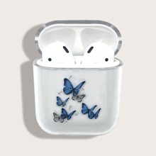 Butterfly Pattern Clear Airpods Case