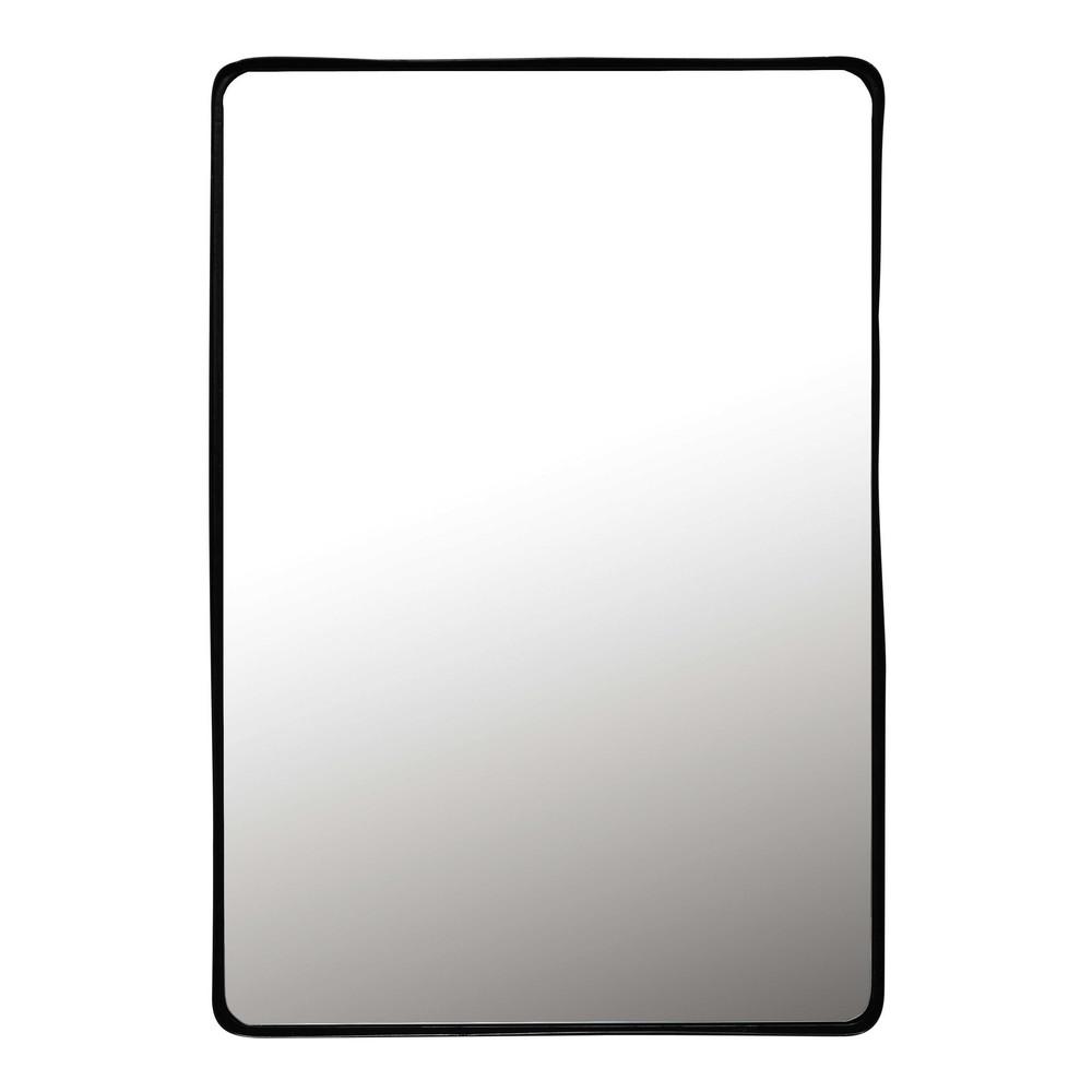 Spiegel mit schwarzem Metallrahmen, 75x110