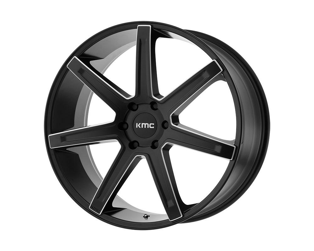 KMC KM700 Revert Wheel 22x9.5 6x6x139.7 +15mm Satin Black Milled