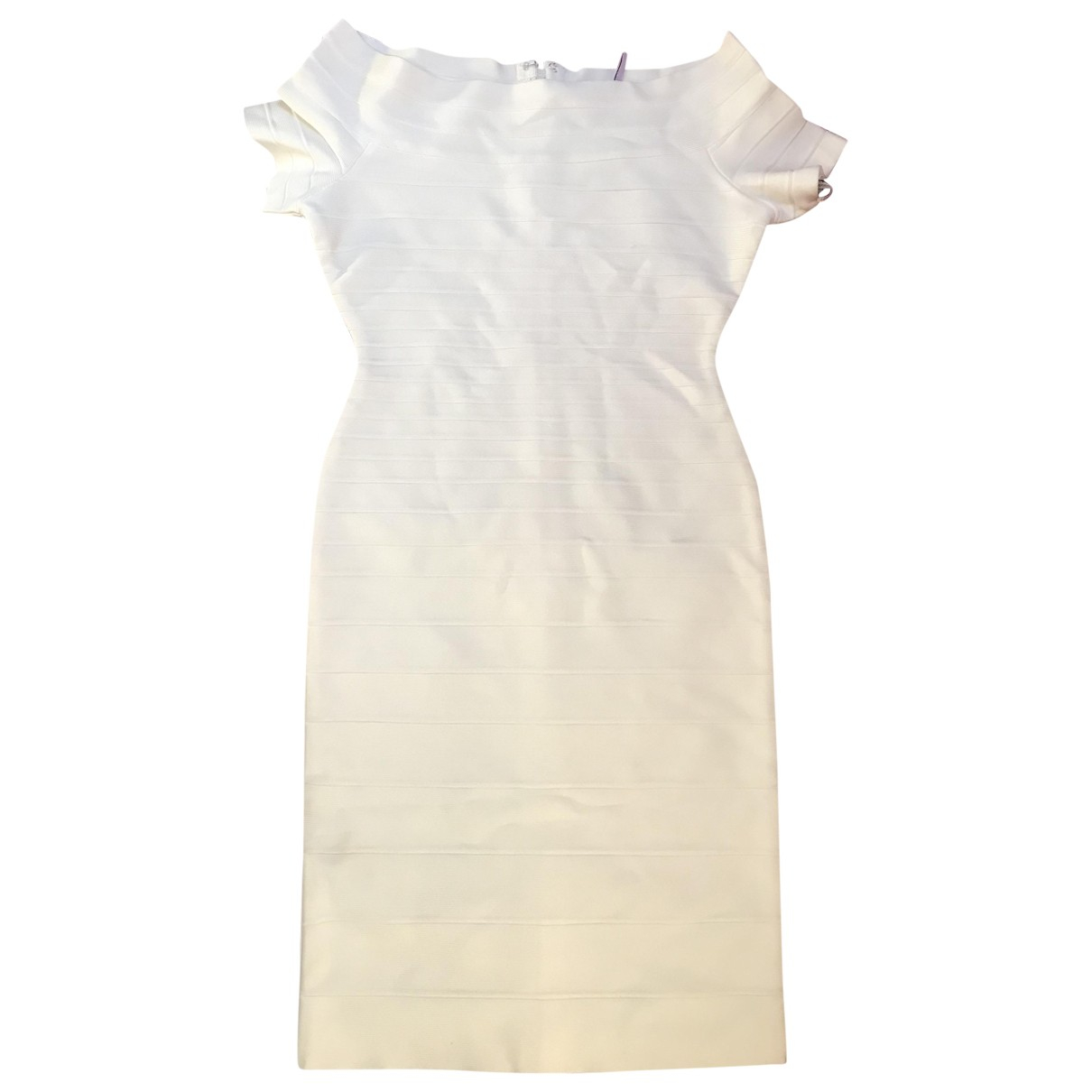 Herve Leger \N Kleid in  Weiss Synthetik