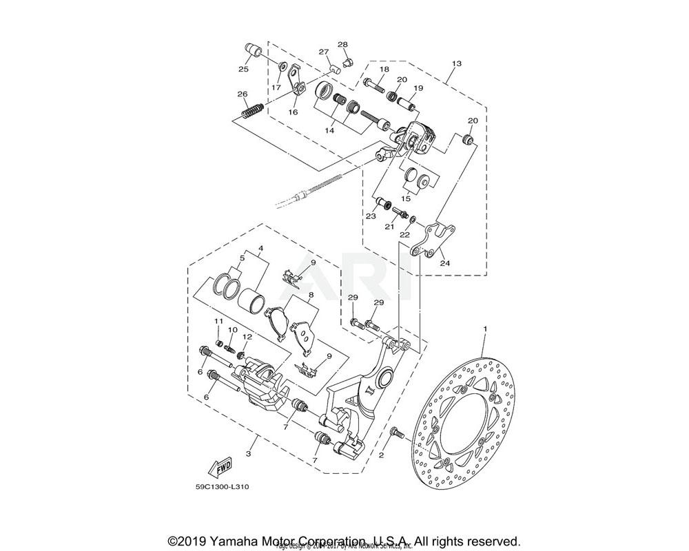 Yamaha OEM 59C-25838-00-00 SLEEVE, CALIPER