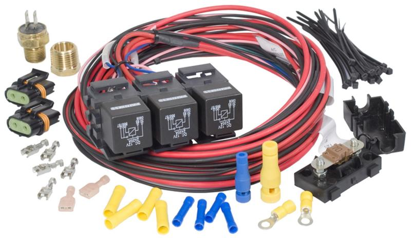 Painless Wiring 30116 Dual Activation/Dual Fan Relay Kit (on 195; off 185)