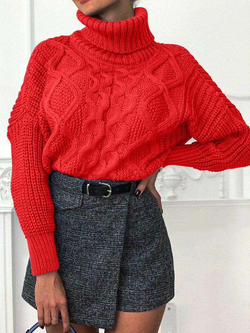 Ericdress Thick Standard Turtleneck Women's Sweater