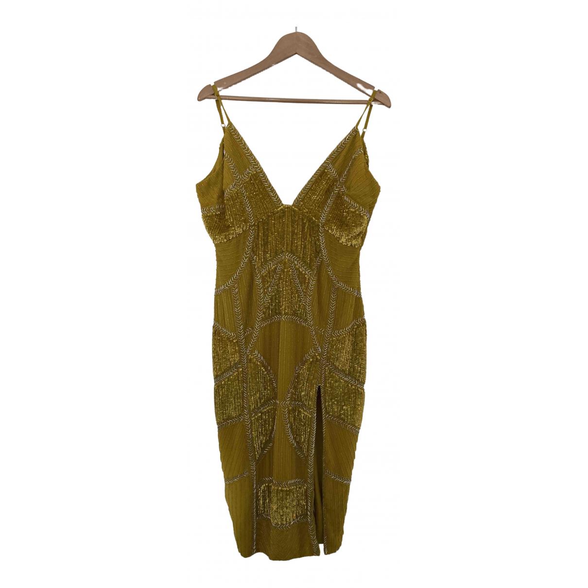 Asos N Yellow Glitter dress for Women 14 UK