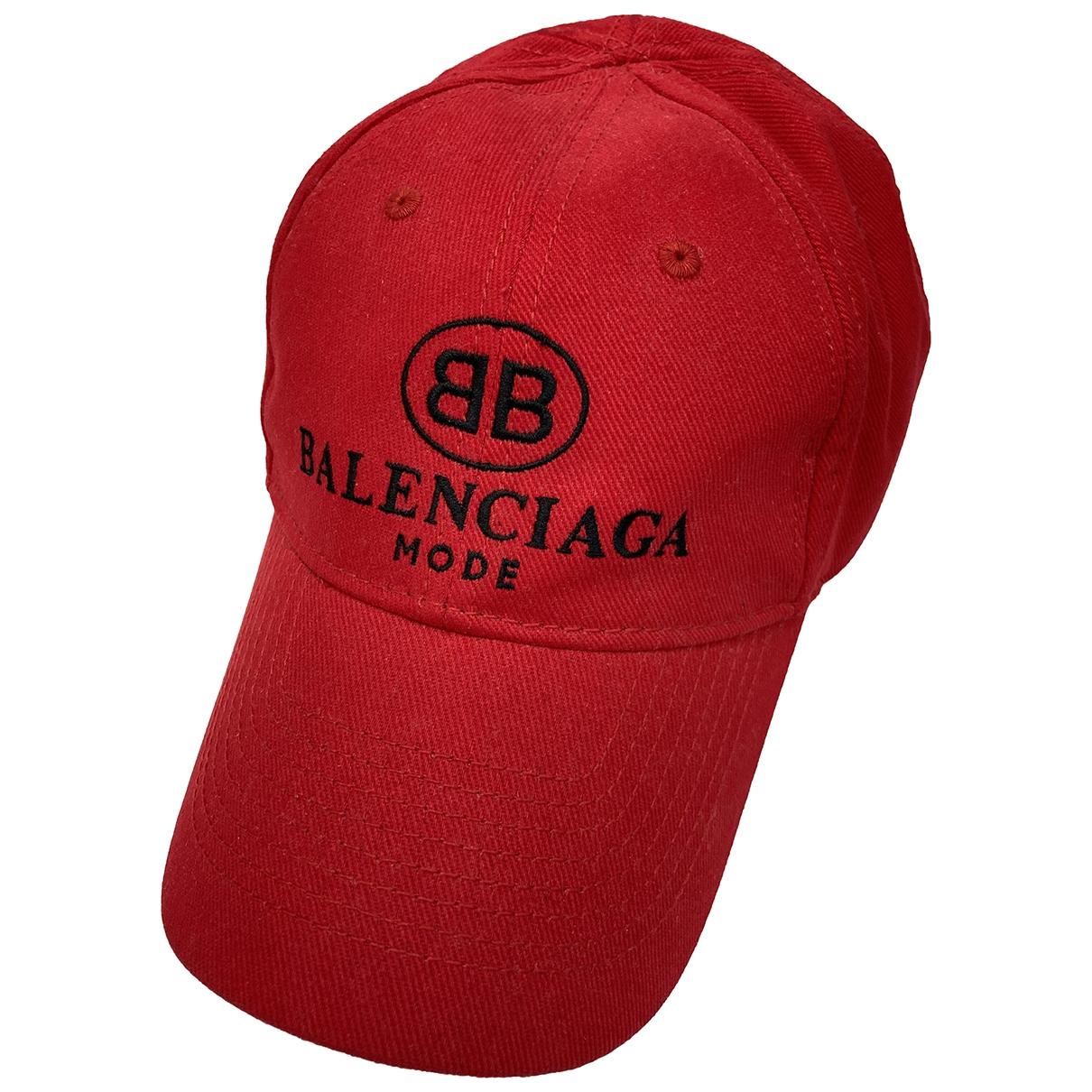 Balenciaga - Chapeau & Bonnets   pour homme en toile - rouge