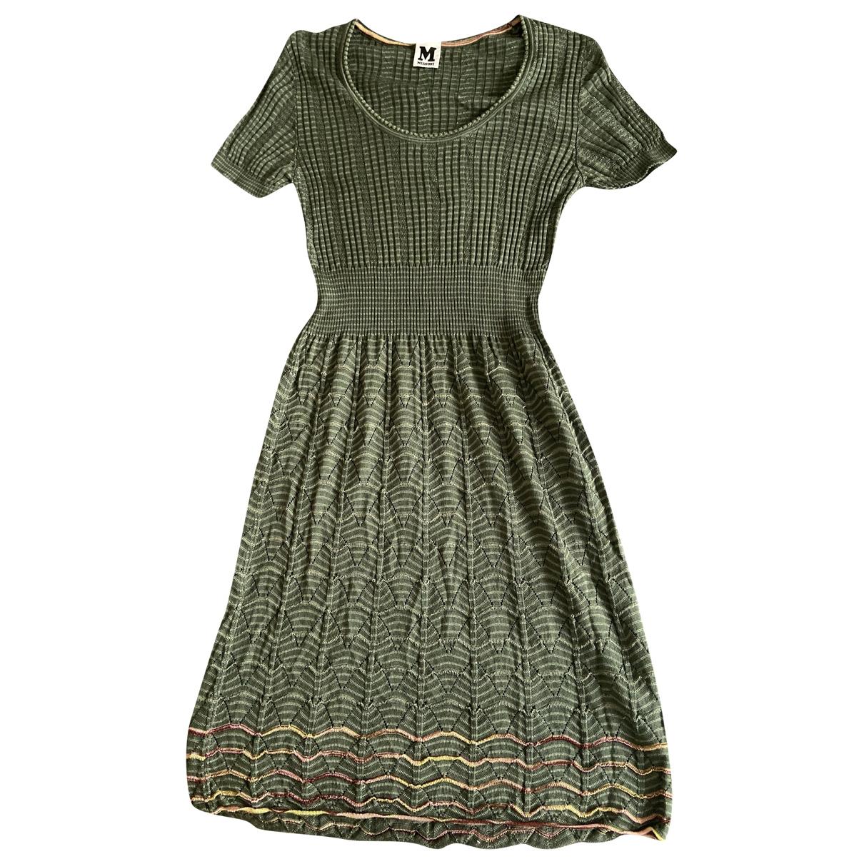 M Missoni \N Green Cotton dress for Women 6 US
