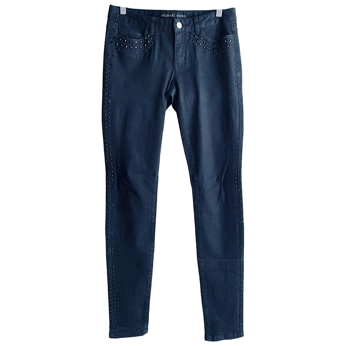 Michael Kors \N Black Cotton - elasthane Jeans for Women 26 US