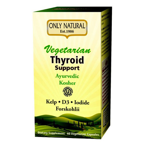 Vegetarian Thyroid Support (Kosher) 60 Veg Caps by Only Natural