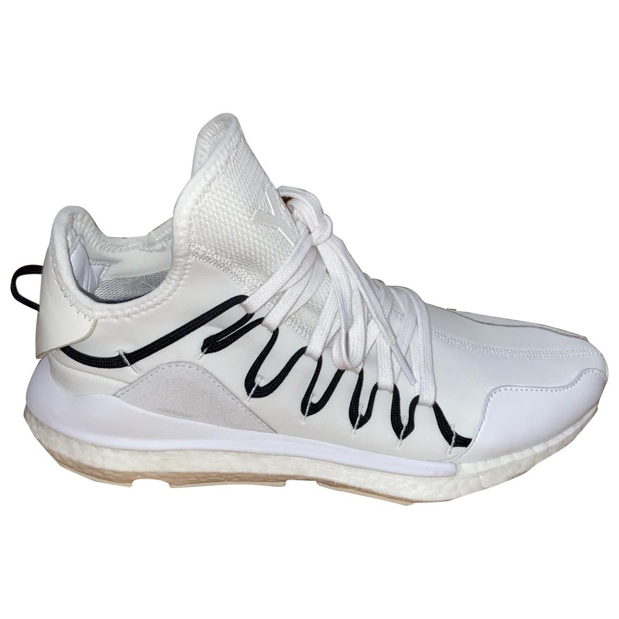 Y-3 - Baskets   pour homme en cuir - blanc
