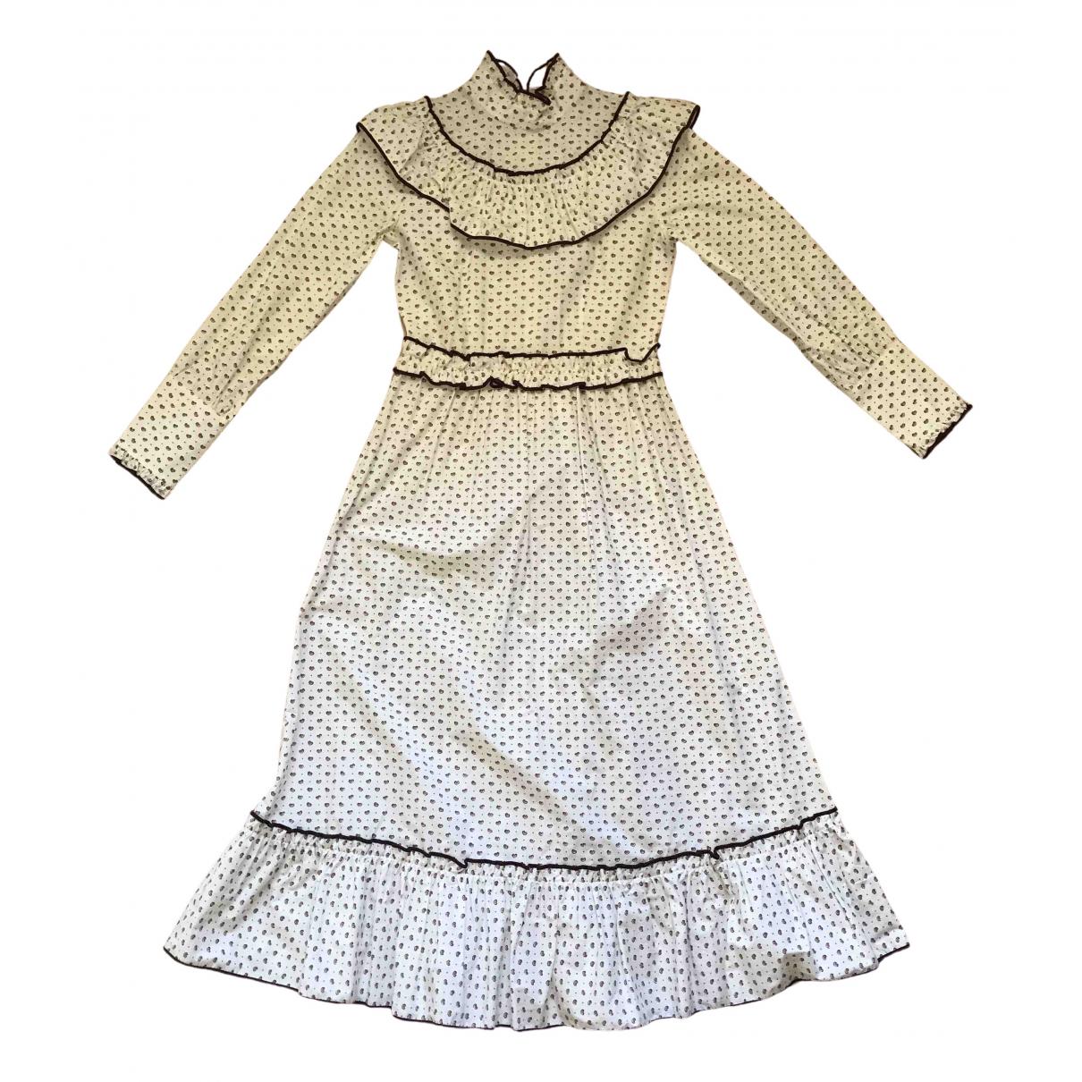 Ganni - Robe Spring Summer 2019 pour femme en coton - blanc