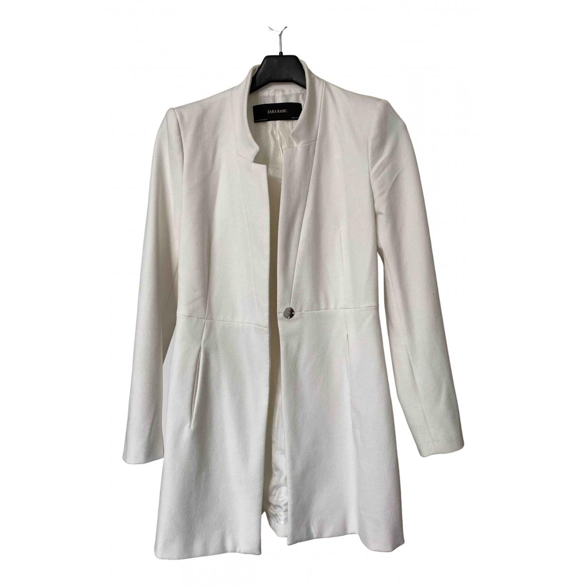 Zara N White Cotton coat for Women XS International