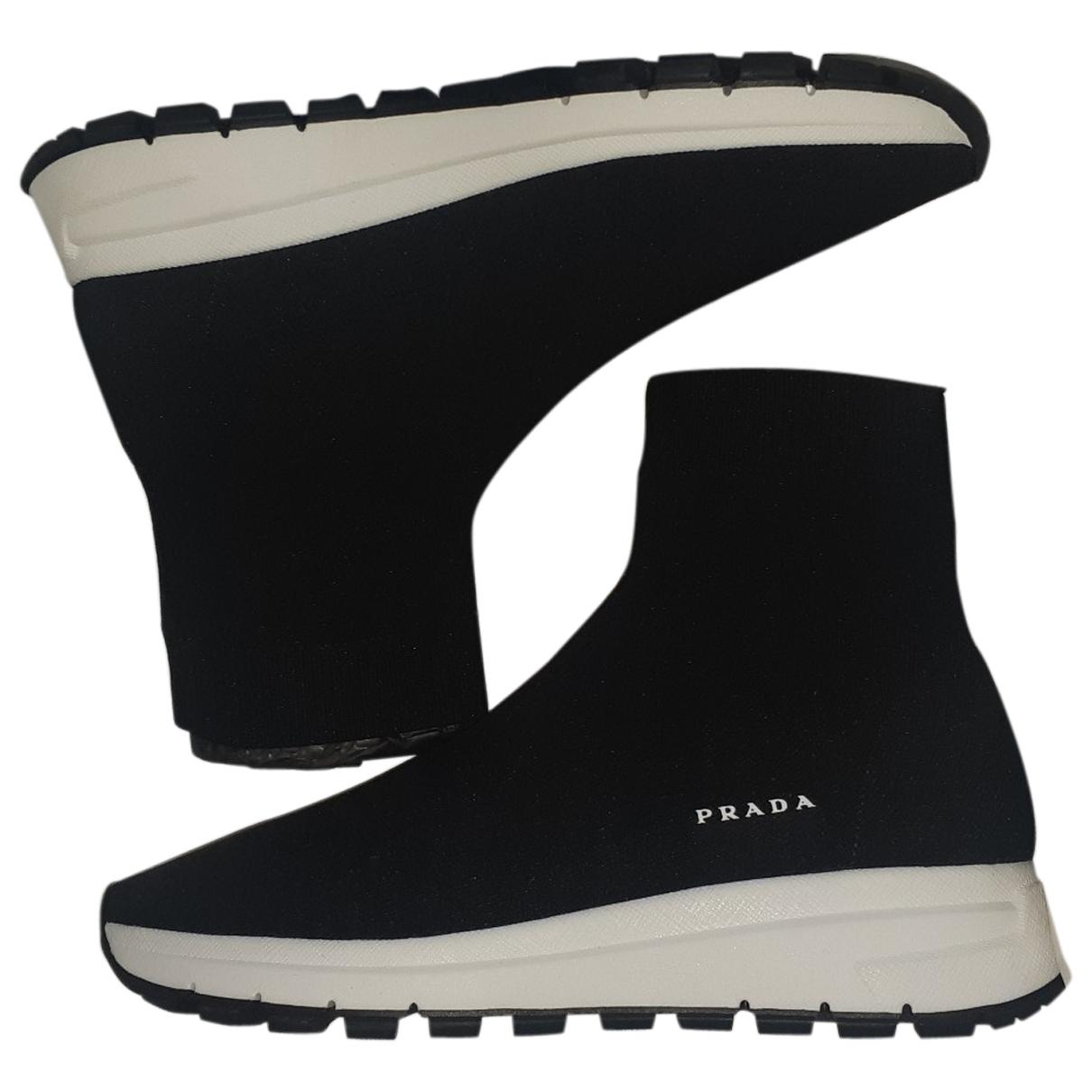 Prada \N Black Cloth Trainers for Women 38 EU