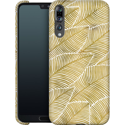 Huawei P20 Pro Smartphone Huelle - Tropical Leaves Gold von Cat Coquillette