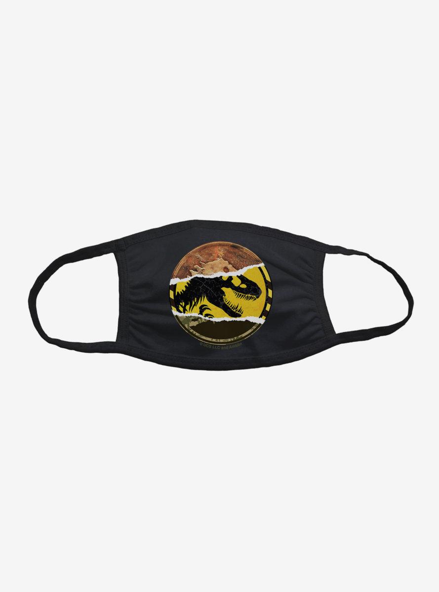 Jurassic World Dino Split Logo Face Mask