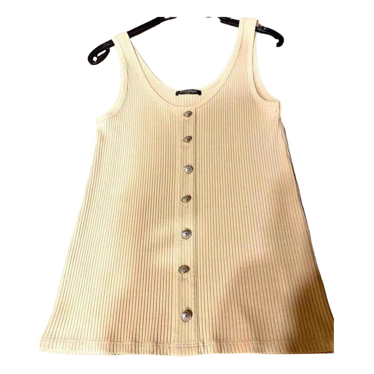 Balmain - Top   pour femme - beige