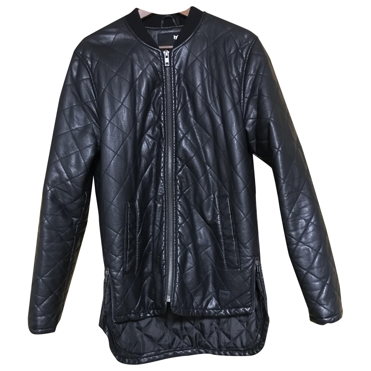 Non Signé / Unsigned \N Black Leather jacket  for Men L International