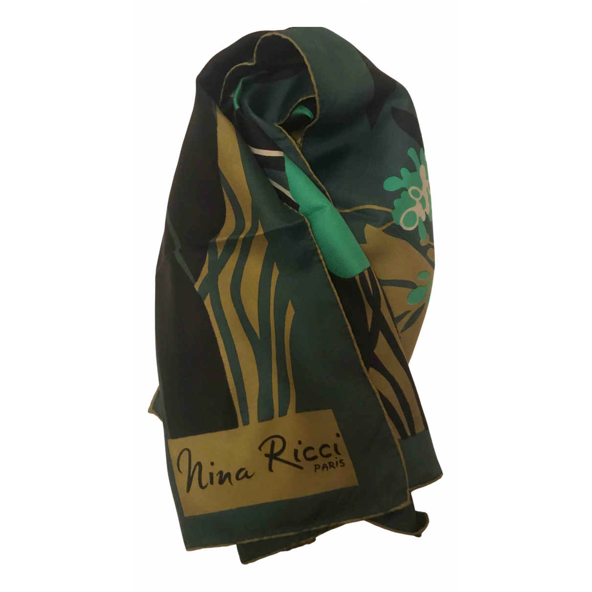 Nina Ricci - Foulard   pour femme en soie - vert