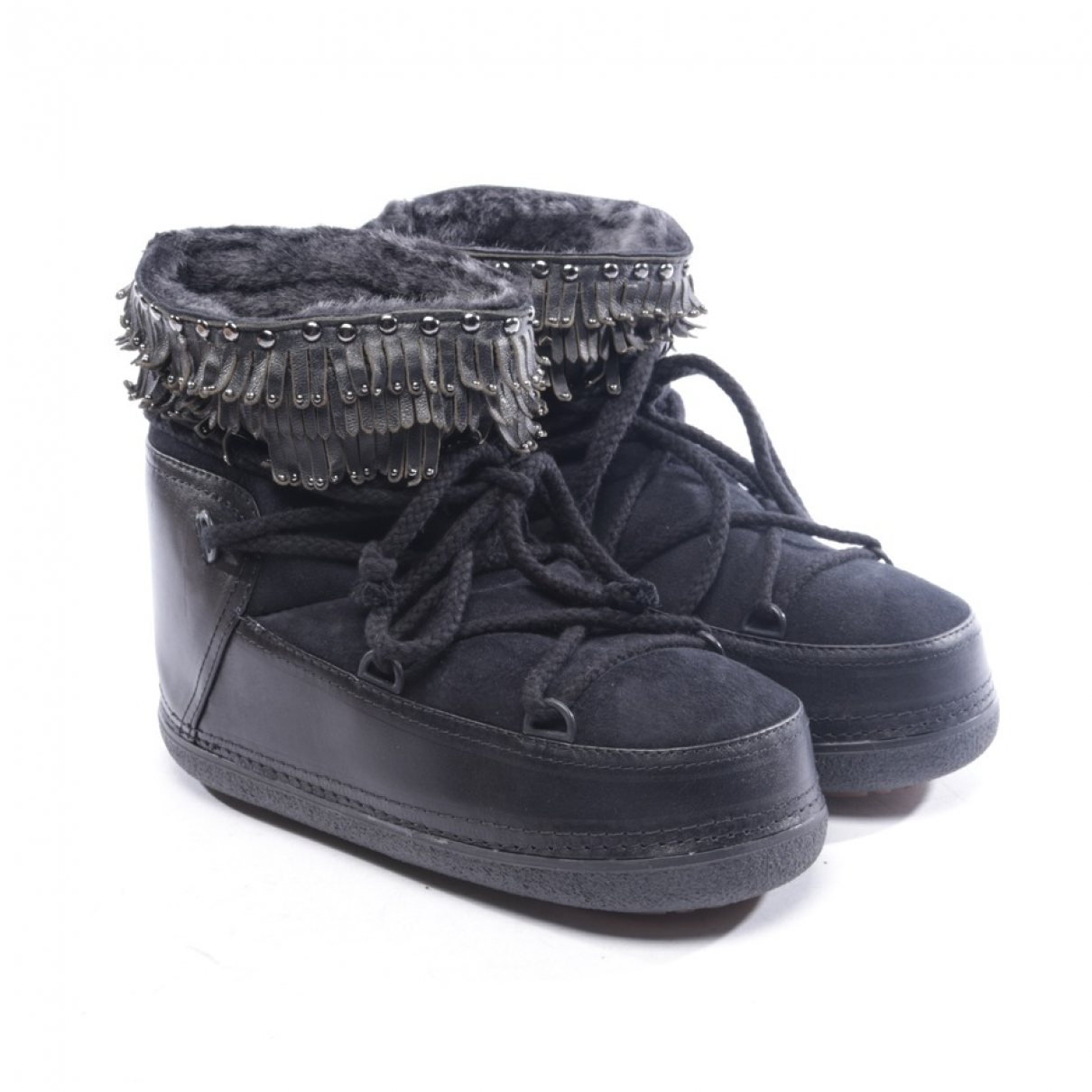 Ikkii \N Black Cloth Ankle boots for Women 40 EU