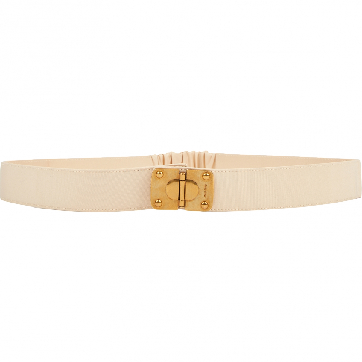 Miu Miu \N Beige Cloth belt for Women 80 cm
