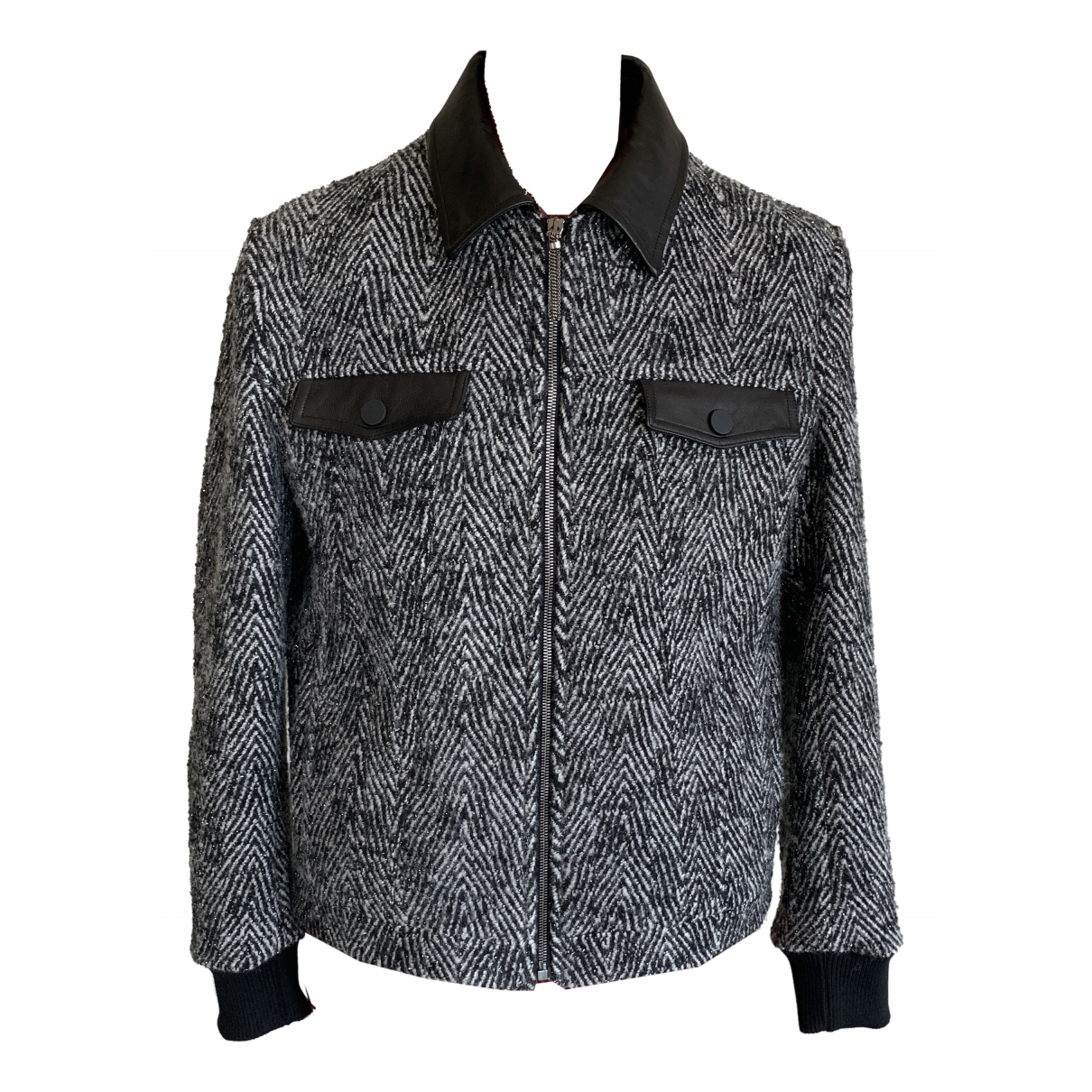 Non Signe / Unsigned \N Jacke in  Metallic Polyester