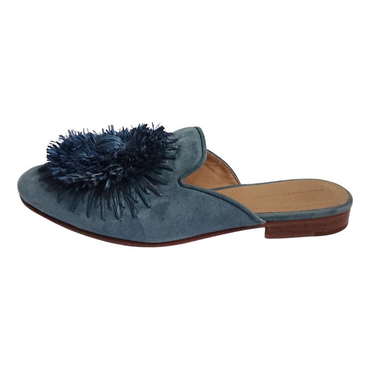 Polo Ralph Lauren \N Clogs in  Blau Veloursleder