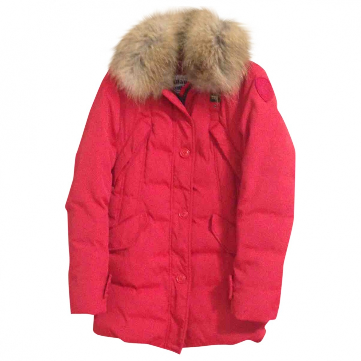 Blauer \N Jacke in  Rot Polyester