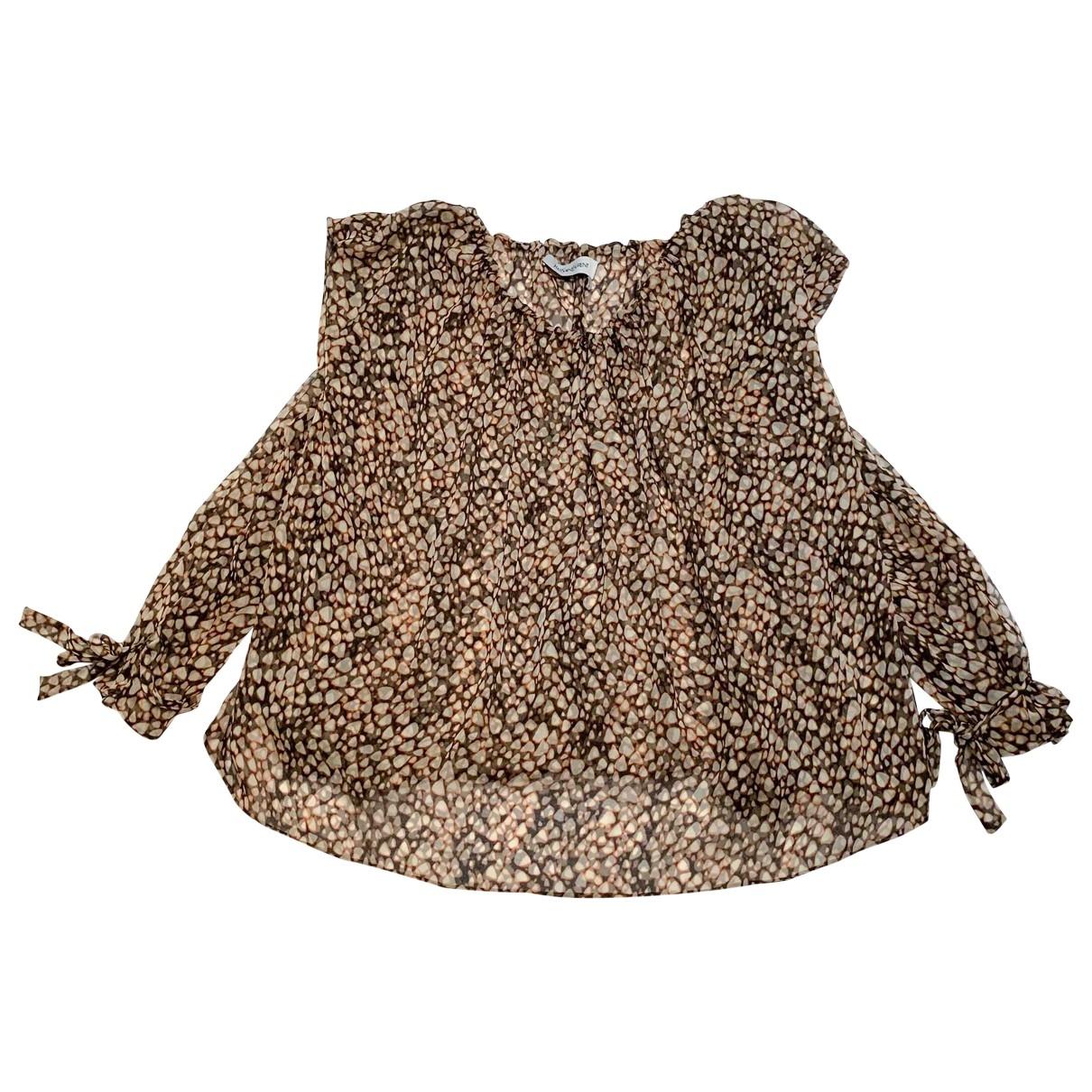 Yves Saint Laurent \N Brown Silk  top for Women 40 FR