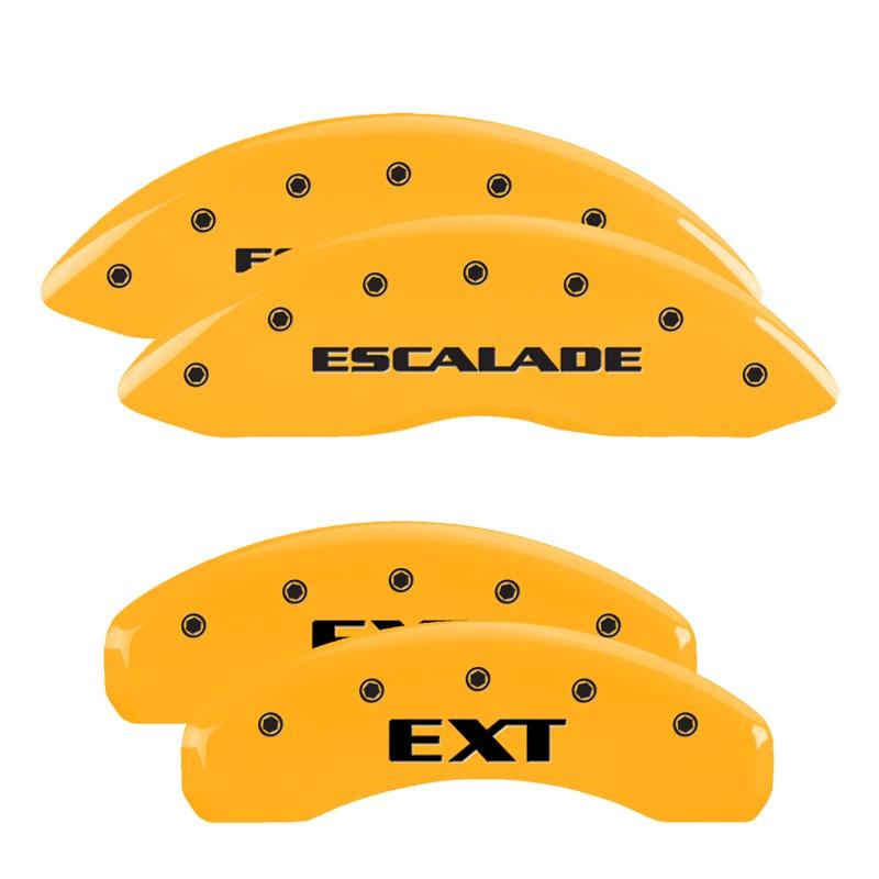 MGP Caliper Covers 35014SEXTYL Set of 4: Yellow finish, Black Escalade / EXT Cadillac Escalade 2002-2006