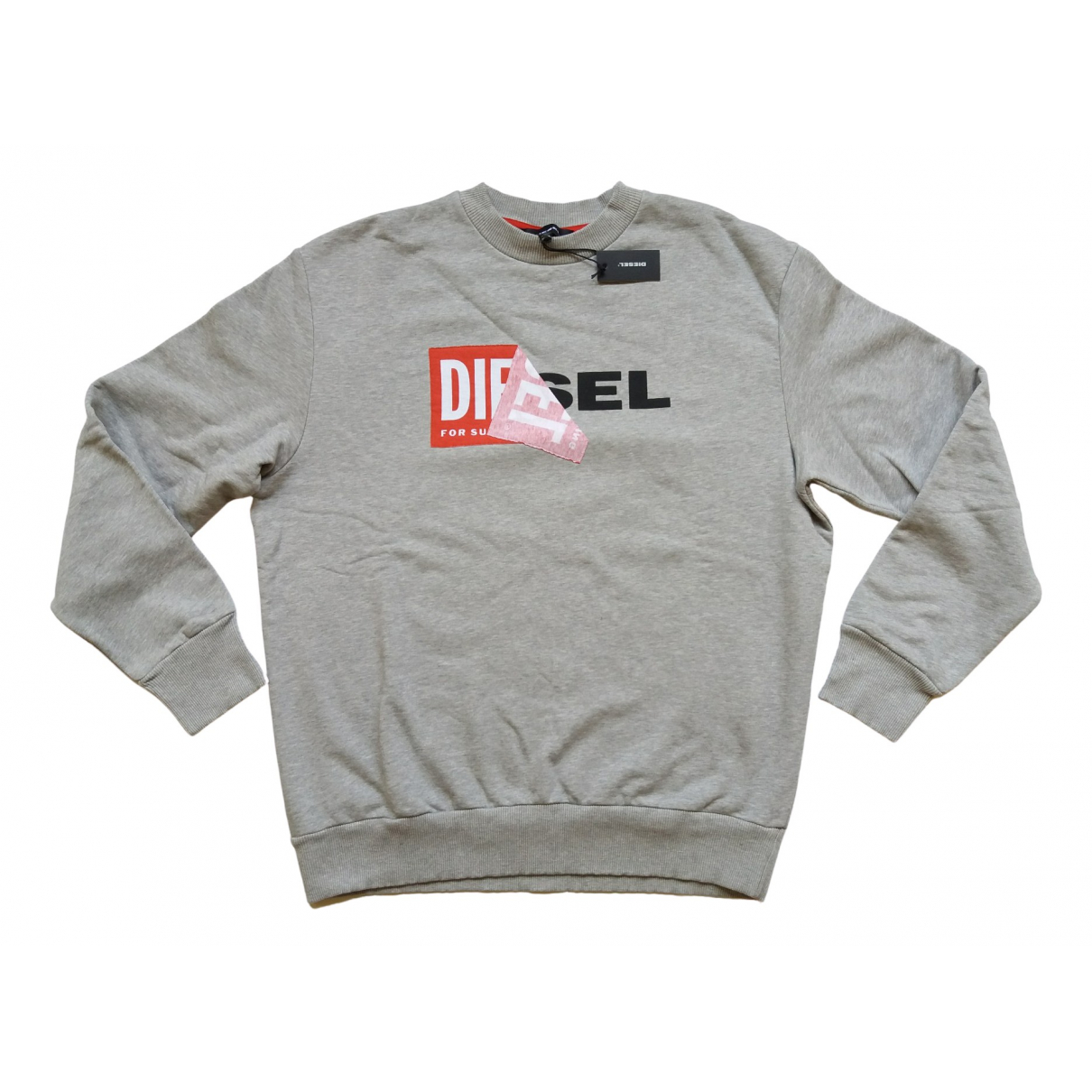 Diesel - Pulls.Gilets.Sweats   pour homme en coton - gris