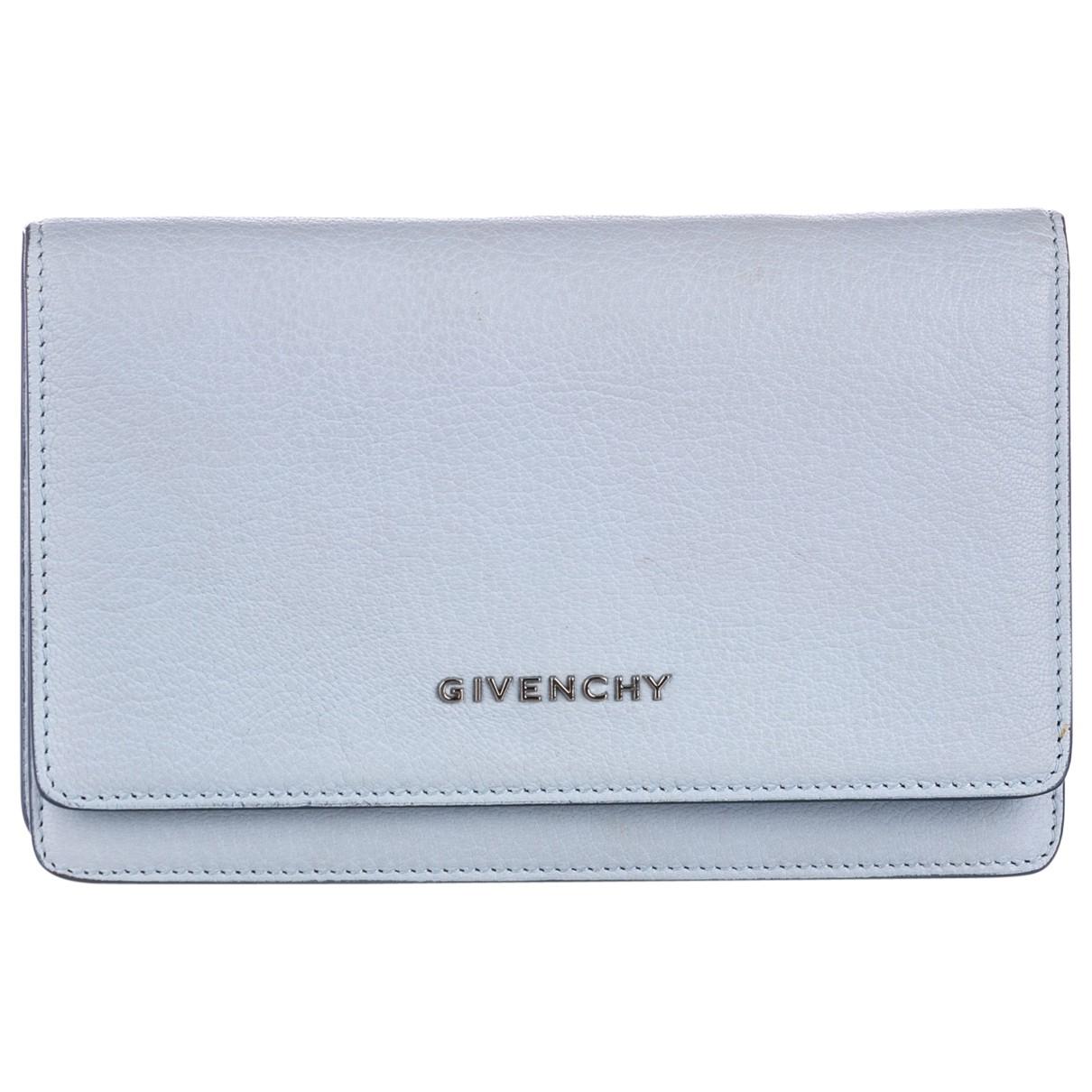 Givenchy \N Portemonnaie in  Blau Leder