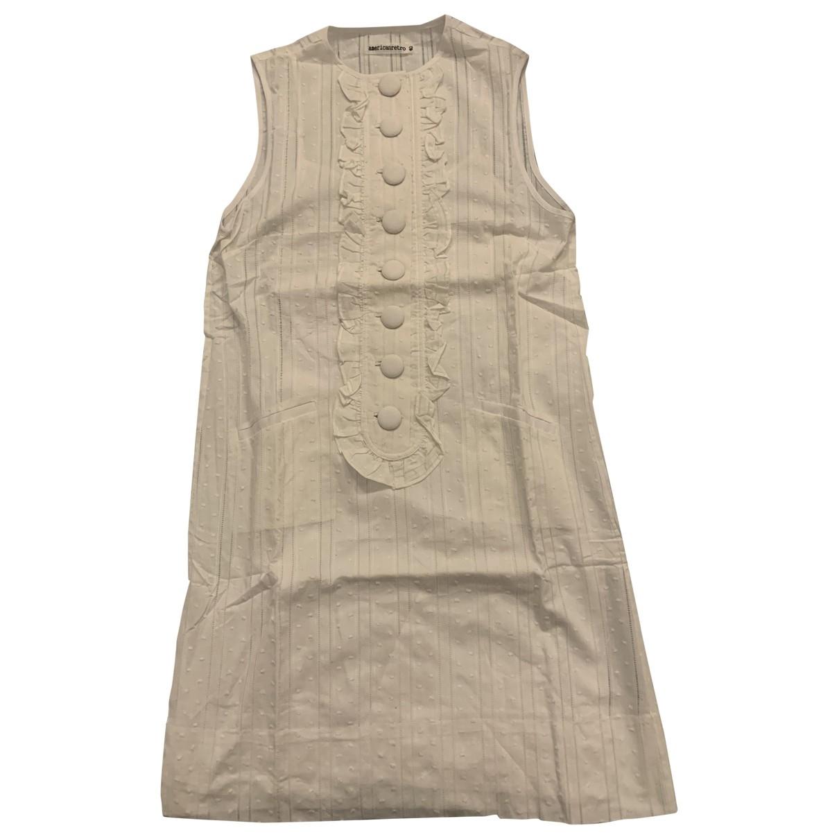 American Retro \N Kleid in  Weiss Baumwolle