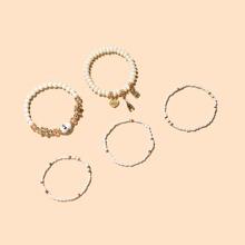 5 Stuecke Armband mit Eule Dekor