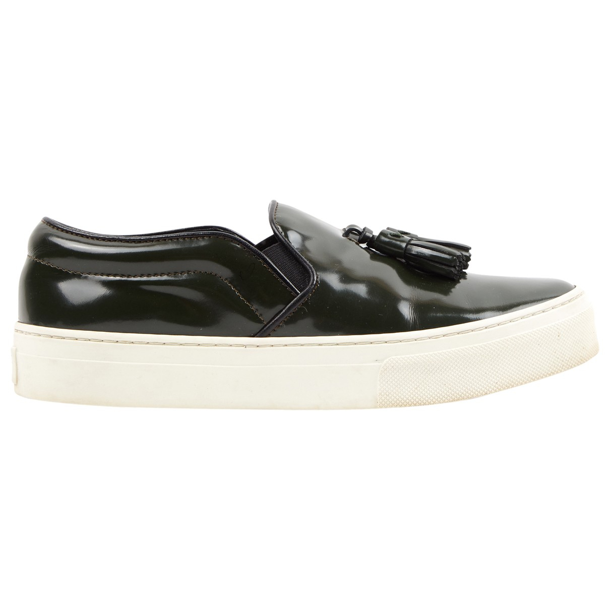 Celine \N Green Patent leather Trainers for Women 36 EU