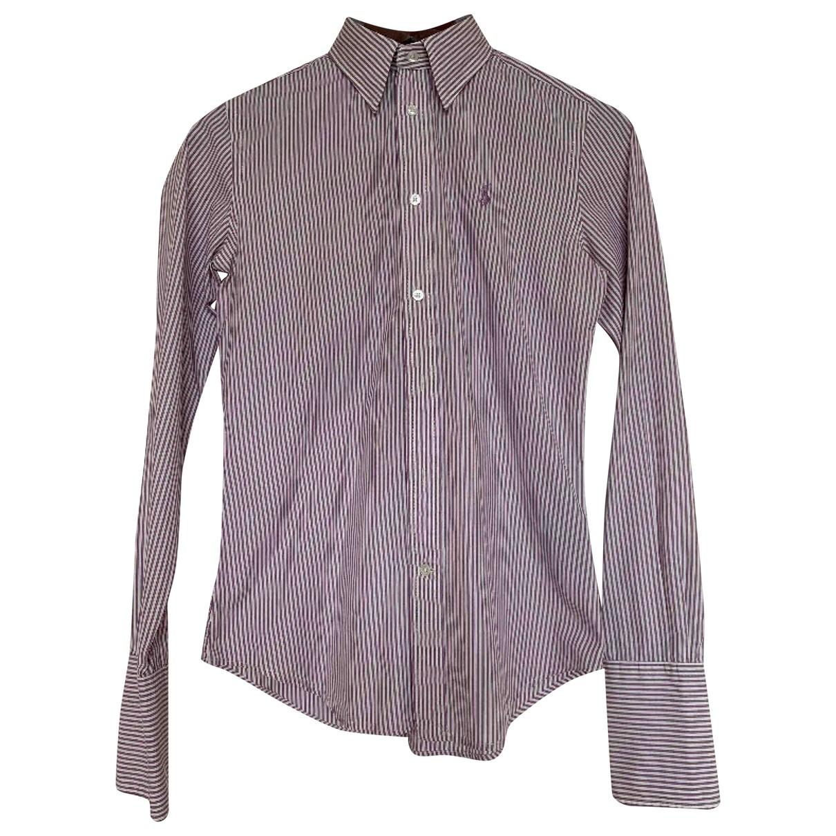 Ralph Lauren - Top   pour femme en coton - bordeaux