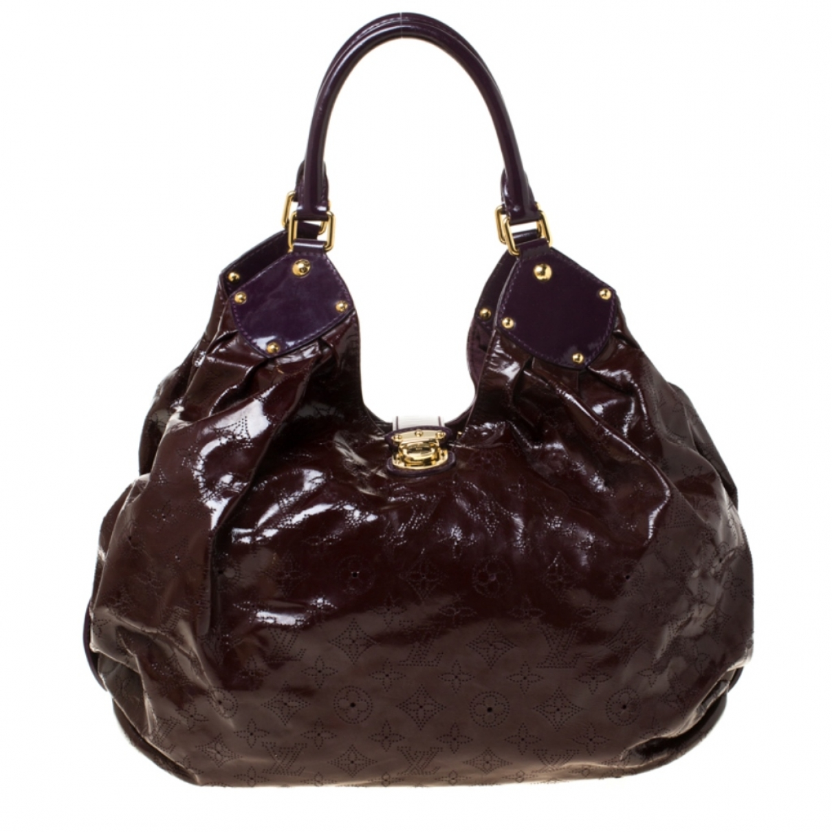 Louis Vuitton Mahina Handtasche in  Bordeauxrot Lackleder