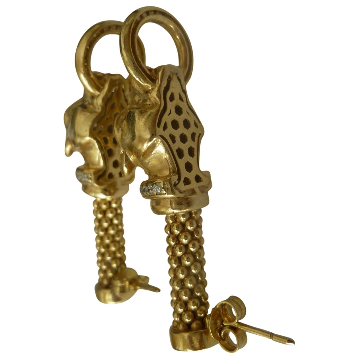 Non Signe / Unsigned Motifs Animaliers OhrRing in  Gold Silber