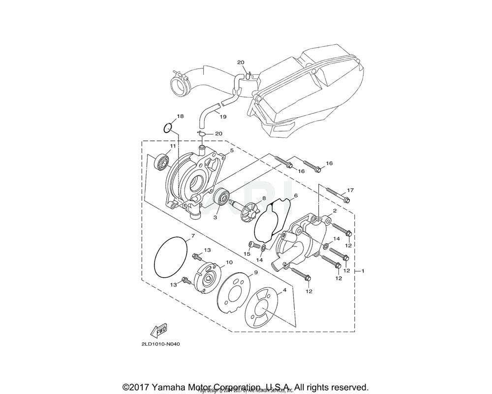 Yamaha OEM 52S-E2449-00-00 GASKET, WATER PUMP