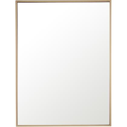 MR4072BR Metal Frame Rectangle Mirror 24 Brass