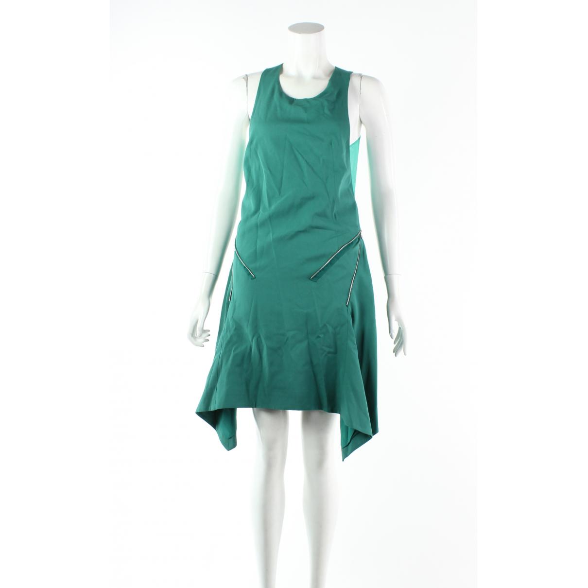 Dion Lee - Robe   pour femme en soie - vert