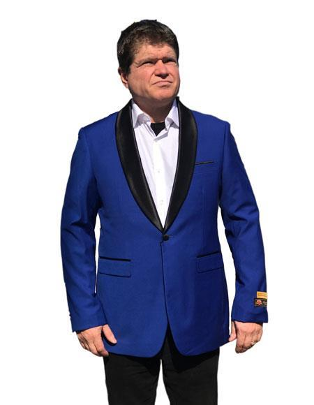 Mens Cheap Fashion big and tall Plus Size Jackets Blazer Royal Blue
