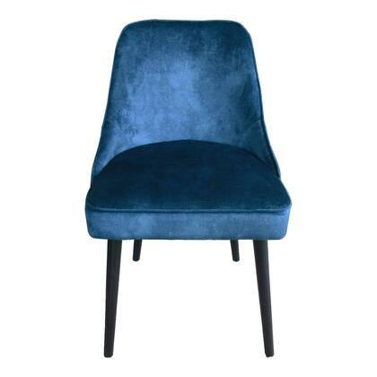 Harmony Collection FN-1039-46 Dining Chair with Solid Birch Legs in Blue