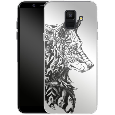 Samsung Galaxy A6 Silikon Handyhuelle - Wolf Profile von BIOWORKZ
