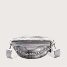 Rhinestone Chain Crossbody Bag
