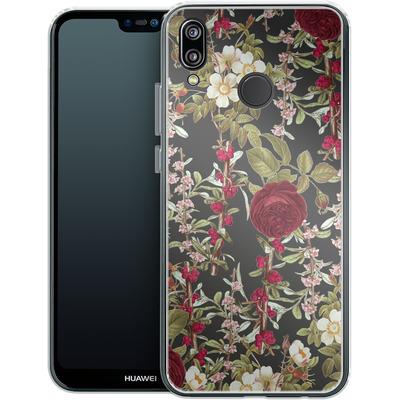 Huawei P20 Lite Silikon Handyhuelle - Floral Explorer von Zala Farah