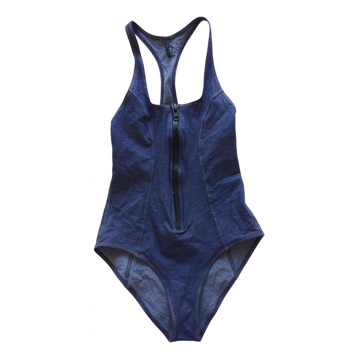 Lisa Marie Fernandez \N Badeanzug in  Blau Baumwolle - Elasthan