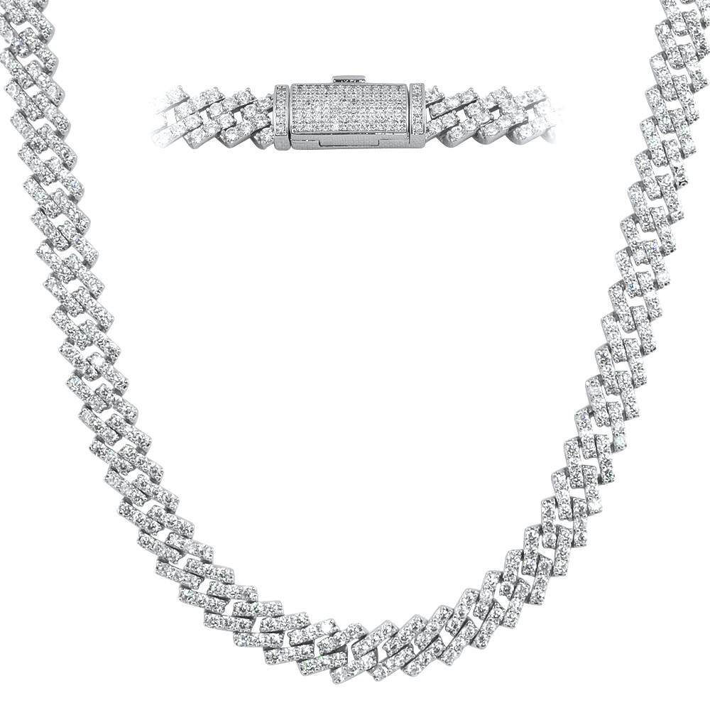 Cuban Box Link CZ Hip Hop Iced Out Bling Chain
