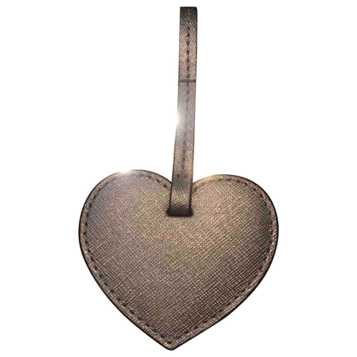 Michael Kors - Bijoux de sac   pour femme en cuir - argente